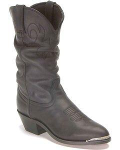 Durango Slouch Cowboy Boots, Black, hi-res