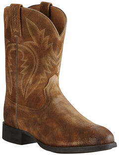 Ariat Men's Tan Western Roper Boots - Round Toe, , hi-res