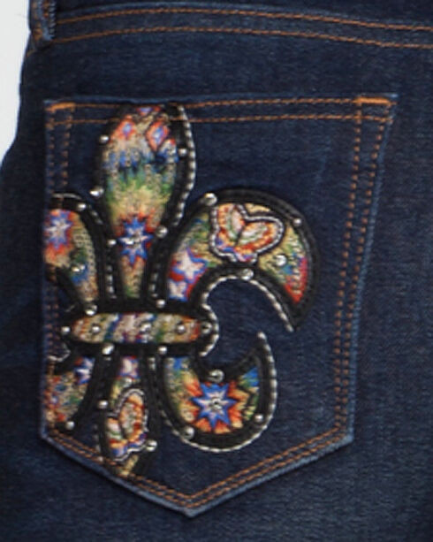 Miss Me Women's Indigo Fleur Sure Mid-Rise Jeans - Skinny , Indigo, hi-res