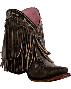 Junk Gypsy by Lane Women's Rustic Brown Spitfire Boots - Snip Toe , Brown, hi-res