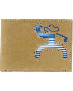 HOOey Men's Golf Stripe Bi-Fold Wallet, Beige/khaki, hi-res