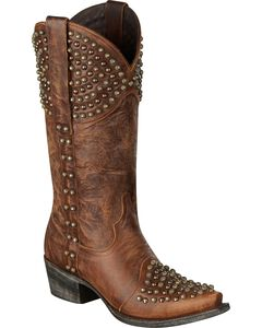 Lane Rock On Studded Cowgirl Boots - Snip Toe, , hi-res