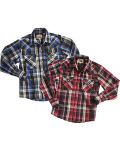 Ely Cattleman Men's Assorted Lurex Plaid Shirt - Tall , Multi, hi-res