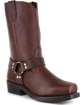Cody James Men's Brown Harness Boots - Square Toe , Brown, hi-res