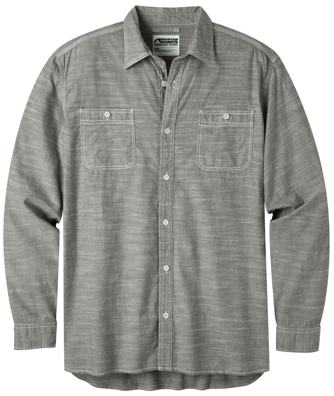 Mountain Khakis Men's Olive Chambray Long Sleeve Shirt, Olive, hi-res