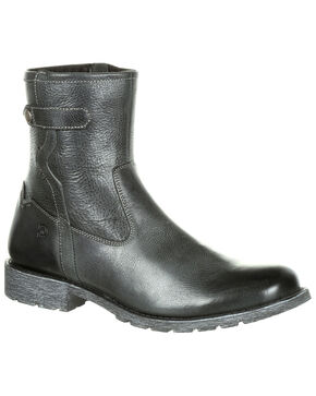 Durango Men's Drifter Side-Zip Boots - Round Toe, Medium Grey, hi-res