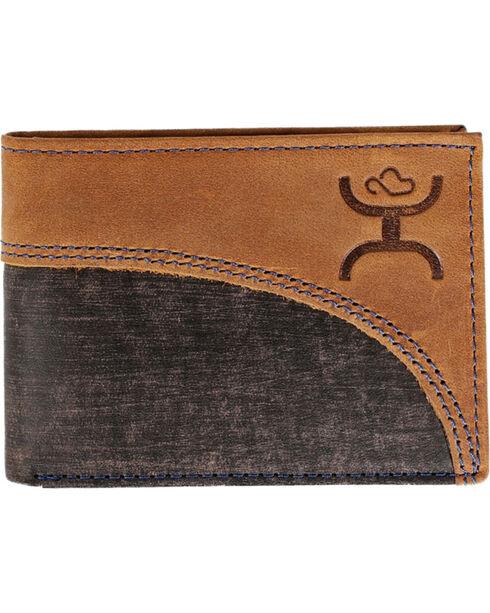 Hooey Men's Brown Signature Bi-Fold Wallet , Brown, hi-res