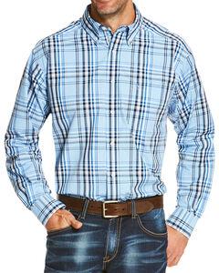 Ariat Men's Blue Oakridge Long Sleeve Shirt , , hi-res