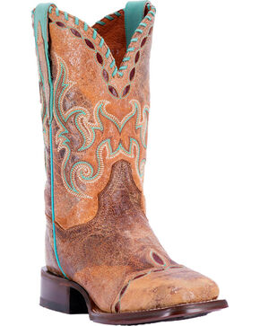 Dan Post Women's Tan McKenna Western Boots - Square Toe , Tan, hi-res