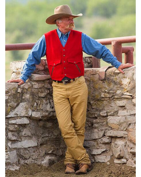 Schaefer Outfitter Men's Red Stockman Melton Wool Vest , Red, hi-res