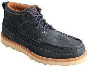 Twisted X Men's Softy Blue Casual Lace-Up Boots - Moc Toe , Blue, hi-res