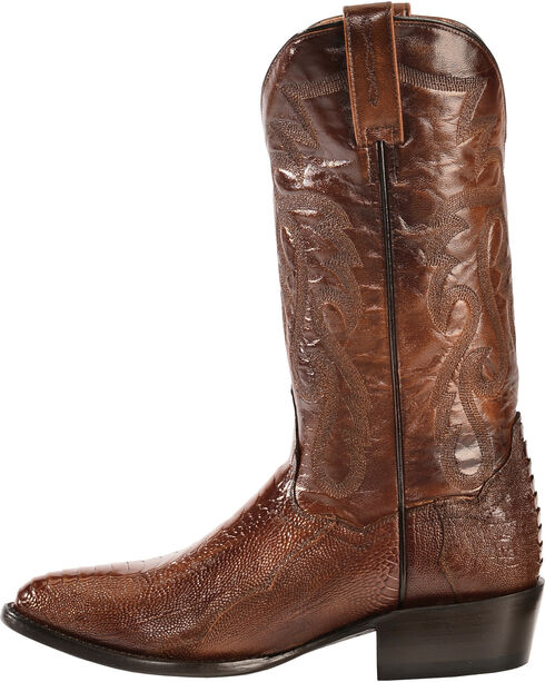 Dan Post Ostrich Leg Boots - Medium Toe, Antique Tan, hi-res