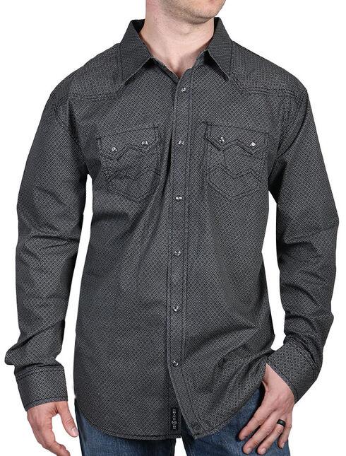 Moonshine Spirit Men's Diamond Ranch Long Sleeve Shirt, Black, hi-res