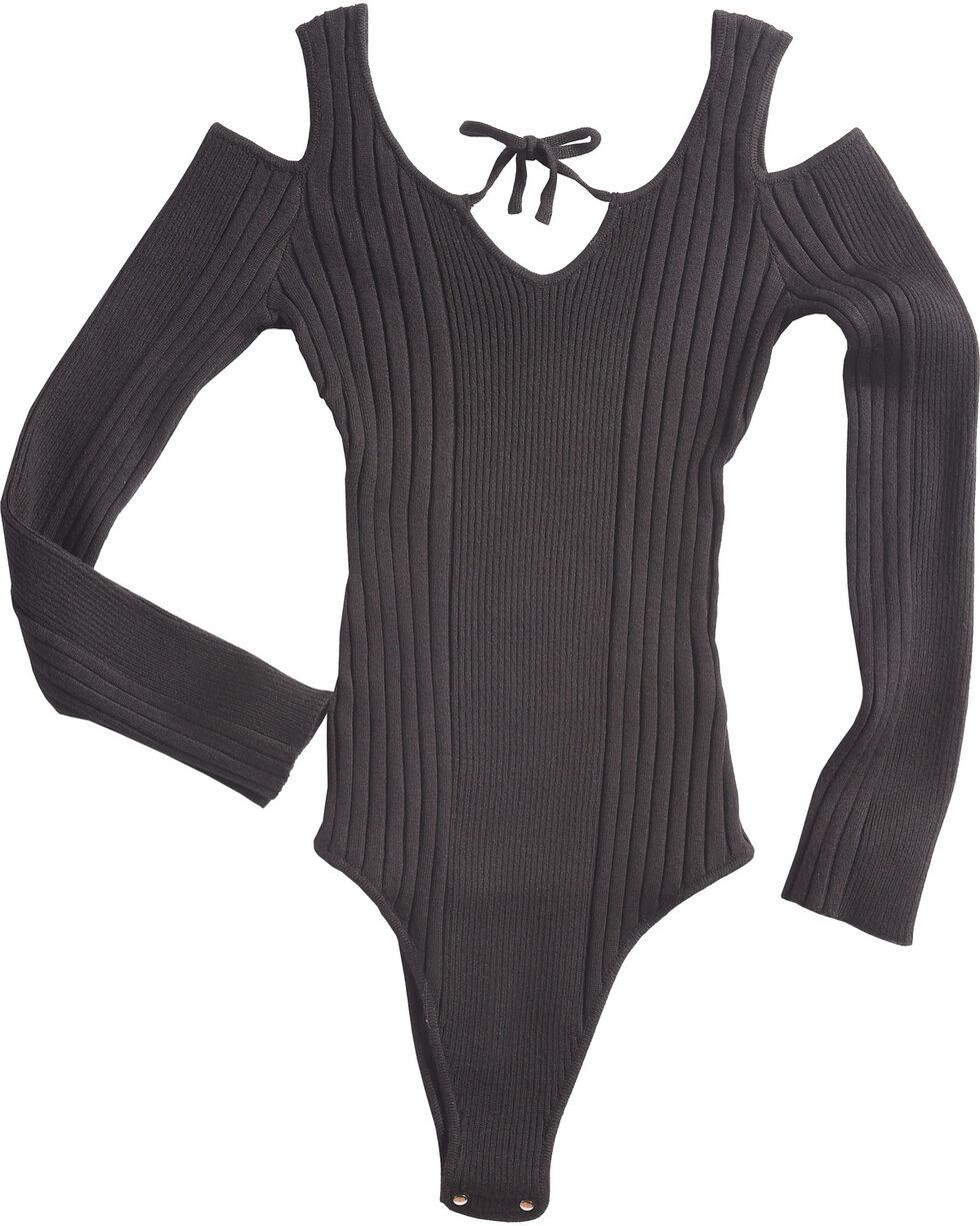 Sage The Label Women's Black Ribbed Harley Bodysuit , Black, hi-res