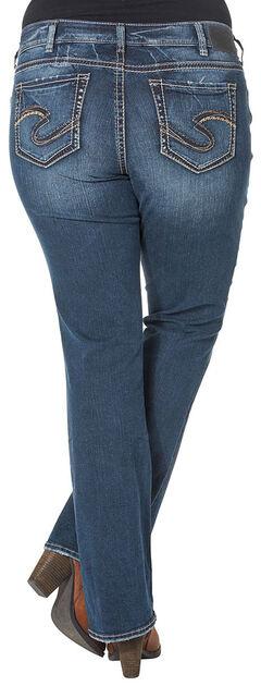 Silver Women's Suki Mid-Rise Bootcut Jeans - Plus Size, Blue, hi-res