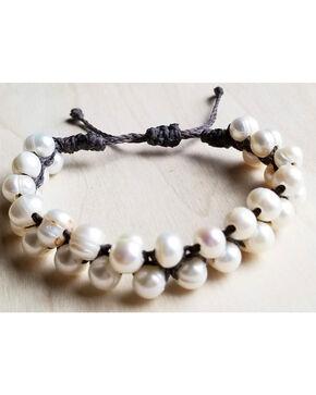 Jewelry Junkie Women's Woven Freshwater Pearl Bracelet , White, hi-res