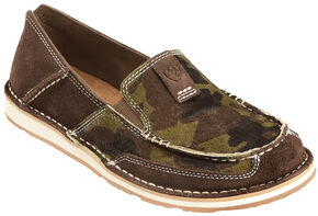 Ariat Women's Camo Cruiser Shoes , Chocolate, hi-res