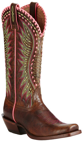 Ariat Women's Dark Brown Derby Boots - Square Toe, Dark Brown, hi-res