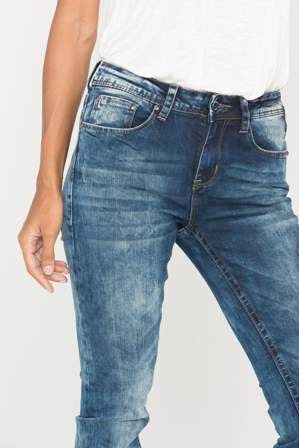 Grace in LA Women's Medium Wash Skinny Jeans, Indigo, hi-res