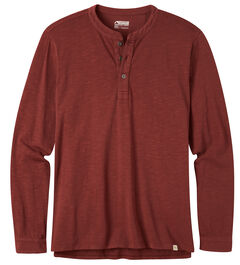 Mountain Khakis Men's Mixter Henley Shirt, Burgundy, hi-res