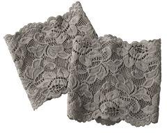 Shyanne Women's Grey Lace Stretch Boot Cuffs, , hi-res