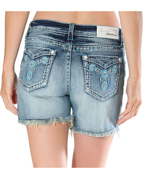 Grace in LA Women's Cut Off Raw Hem Shorts , , hi-res