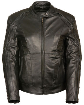 Milwaukee Leather Women's Stud & Wing Leather Jacket - 4XL, Black, hi-res