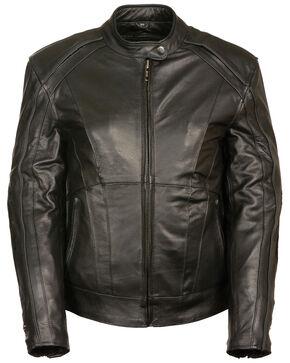 Milwaukee Leather Women's Stud & Wing Leather Jacket - 5XL, Black, hi-res