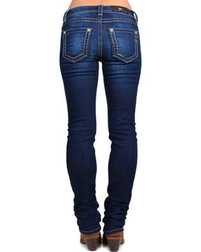 Miss Me Women's Silver Lining Jeans - Skinny, Blue, hi-res