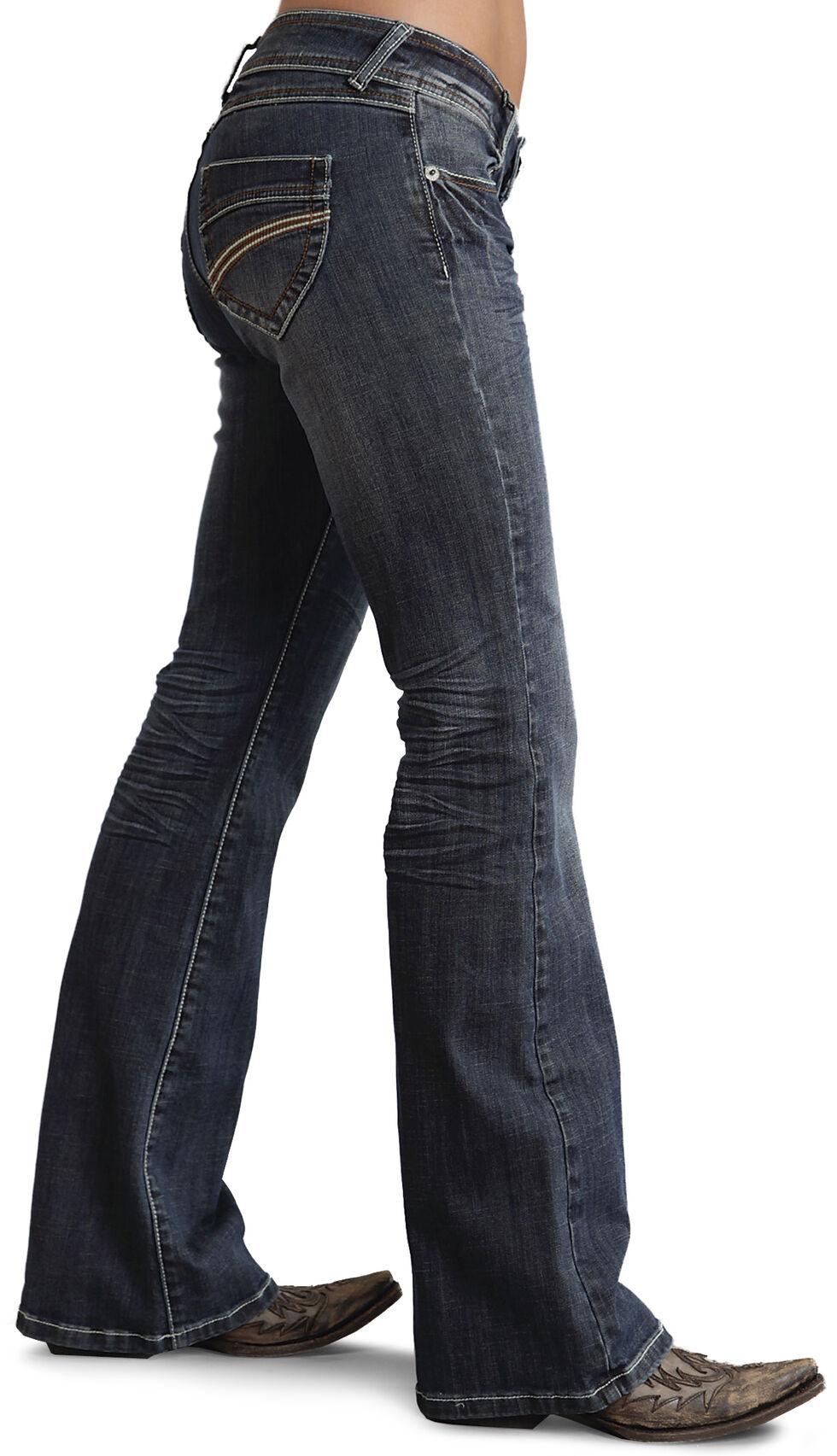 Stetson Women's 816 Classic Fit Thick Stitch Jeans, Denim, hi-res