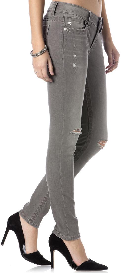 Miss Me Women's Get Ripped Grey Skinny Jeans, Lt Grey, hi-res