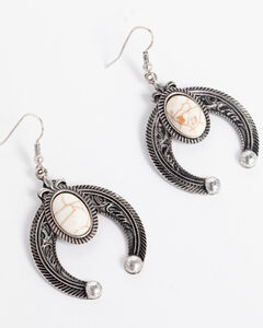 Shyanne Women's Squash Blossom Earrings, Silver, hi-res