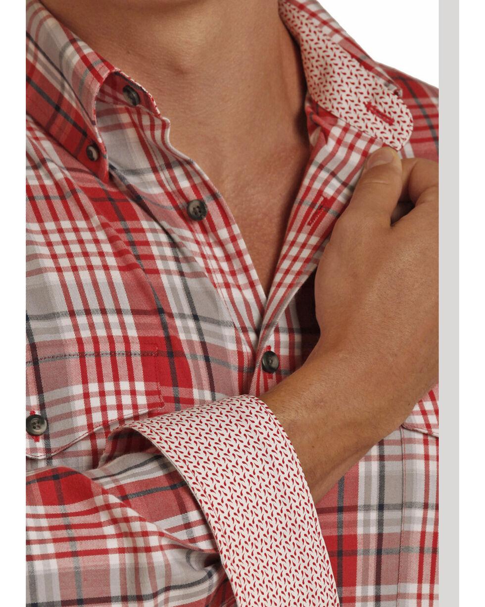 Panhandle Men's Poplin Twill Plaid Shirt , , hi-res