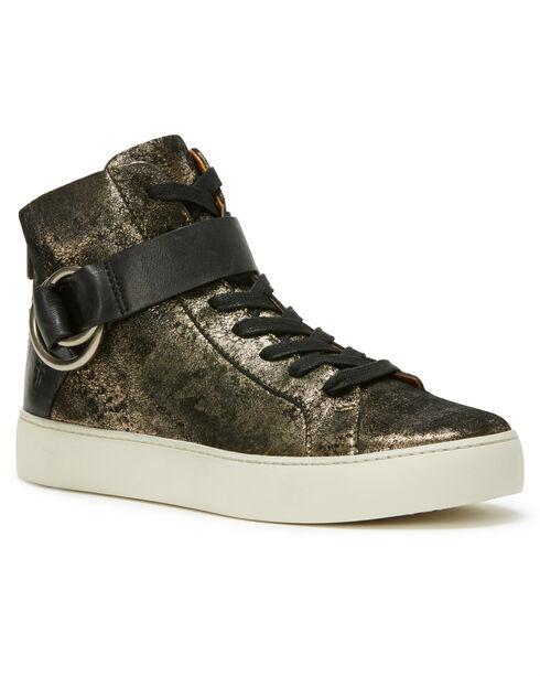 Frye Women's Gunmetal Lena Harness High Shoes , Dark Grey, hi-res