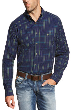 Ariat Men's Peacoat Navy Brennan Shirt - Big and Tall, Navy, hi-res