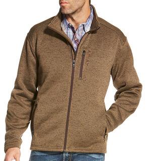 Ariat Men's Light Brown Caldwell Full Zip Sweater , Light Brown, hi-res