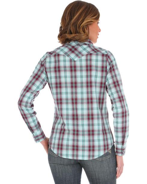 Wrangler Women's Purple Plaid Long Sleeve Shirt , Purple, hi-res