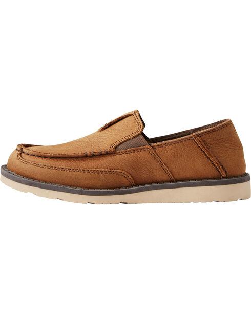 Ariat Boys' Slip On Cruiser Shoes - Moc Toe, Brown, hi-res