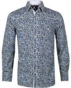 Rock Roll n Soul Men's Buzz The Fuzz Long Sleeve Shirt, Blue, hi-res