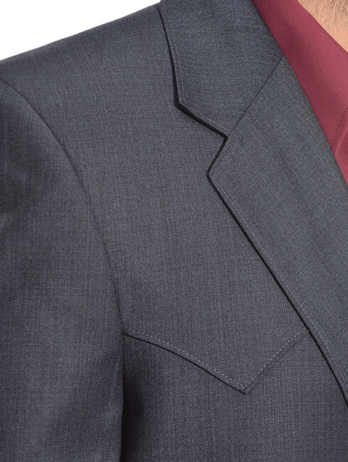 Circle S Men's Lubbock Slate Blue Suit Coat, Blue, hi-res