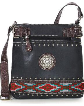 Savana Women's Aztec Crossbody Bag, Black, hi-res