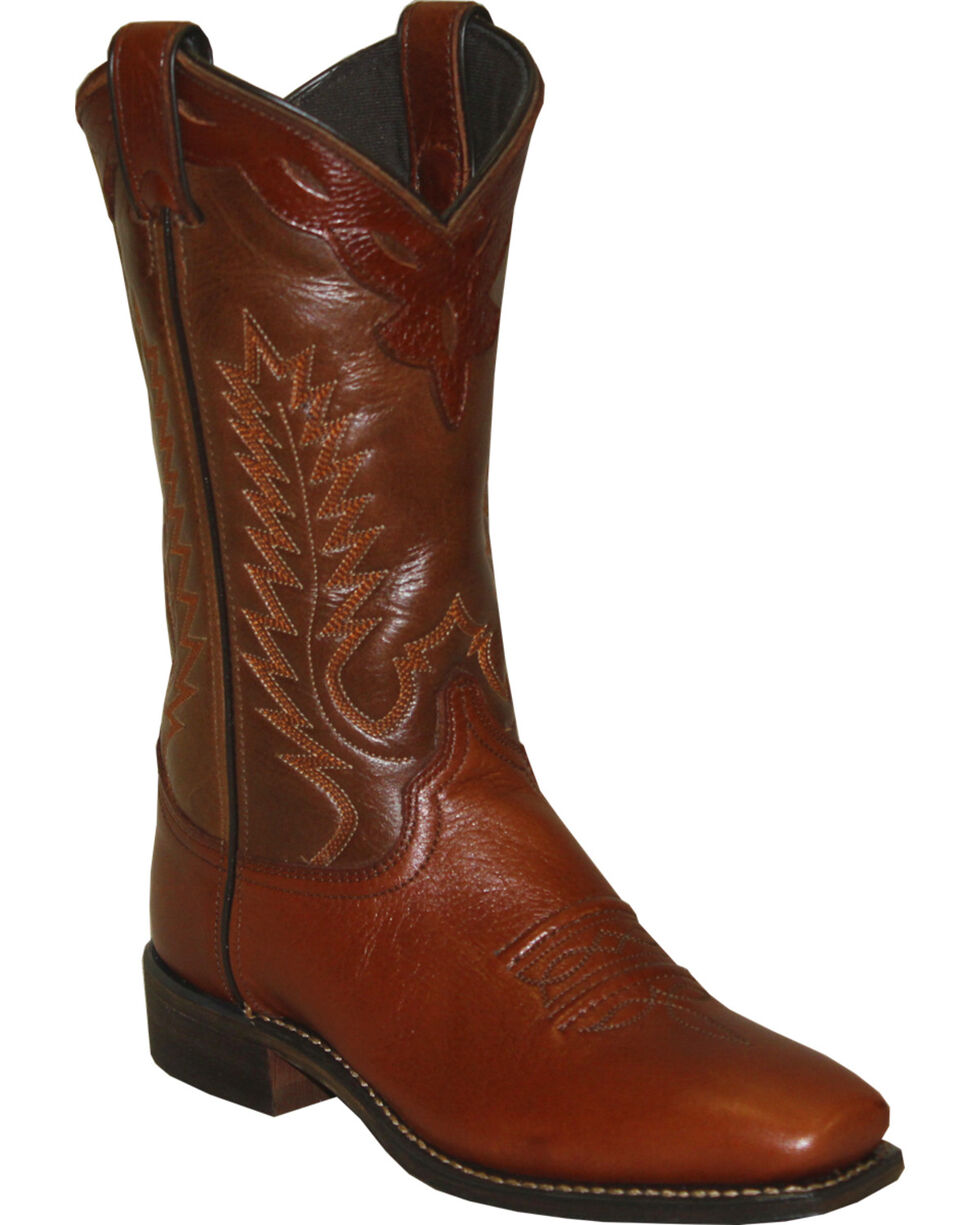 Abilene Women's Western Cowgirl Boots - Square Toe, Brown, hi-res