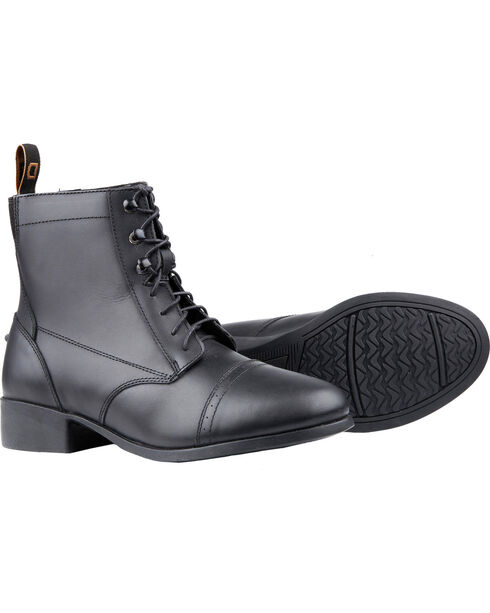 Dublin Women's Foundation Laced Paddock Boots, Black, hi-res