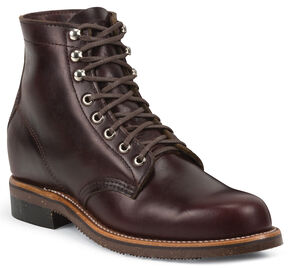 Chippewa Men's 1939 Original Burgundy Service Boots - Round Toe, Burgundy, hi-res