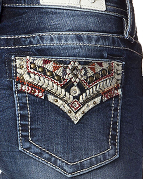 Miss Me Women's Indigo Wish You Well Jeans - Boot Cut , Indigo, hi-res