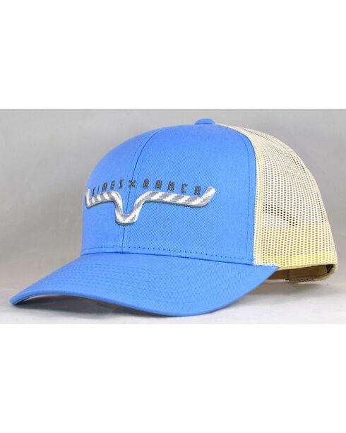 Kimes Ranch Men's Light Blue Navaho Horns Trucker Cap , Light Blue, hi-res