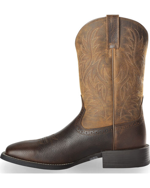 Ariat Sport Western Cowboy Boots - Square Toe, Brown, hi-res