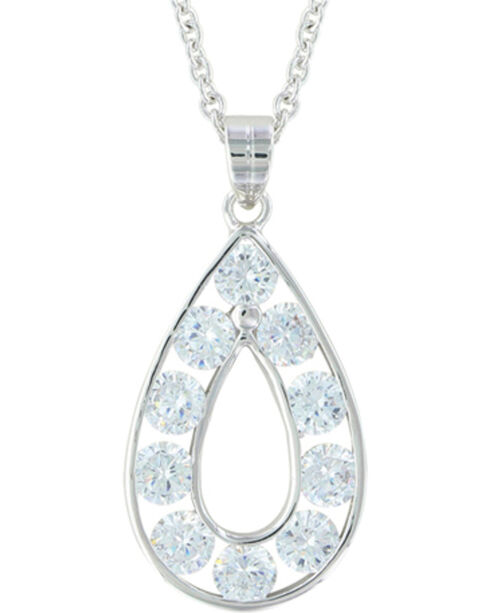 Montana Silversmiths Women's Silver Radiant Teardrop Necklace , Silver, hi-res