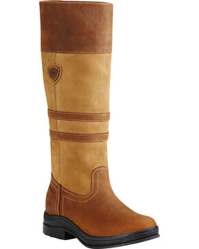 Ariat Women's Cider Brown Ambleside H2O English Boots, Brown, hi-res