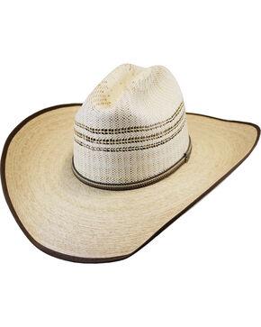 Justin Men's Natural Rawlins Straw Hat , Natural, hi-res